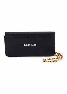 Balenciaga Cash Continental Wallet On Chain  Black/White