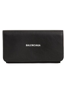 Balenciaga Cash Leather Continental Wallet