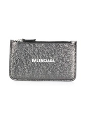 Balenciaga Cash metallic cardholder
