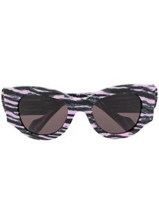 Balenciaga cat eye abstract print sunglasses