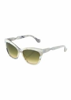 Balenciaga Cat-Eye Acetate Marbled Sunglasses