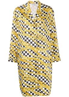 Balenciaga chain print pyjama dress