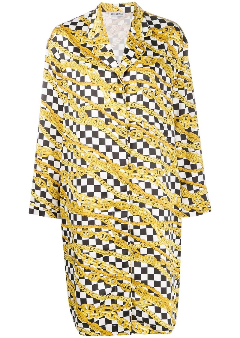 Balenciaga chain print pyjama dress