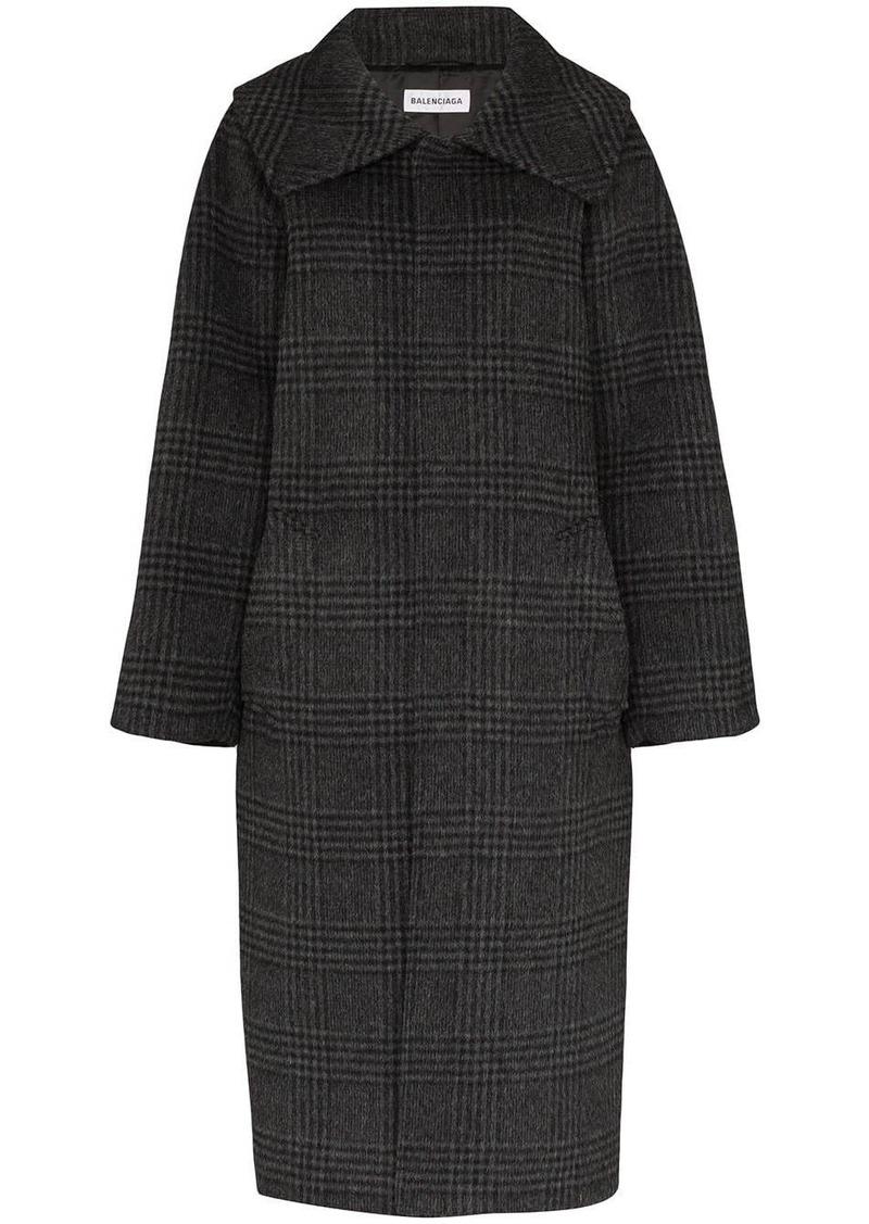 Balenciaga check print coat