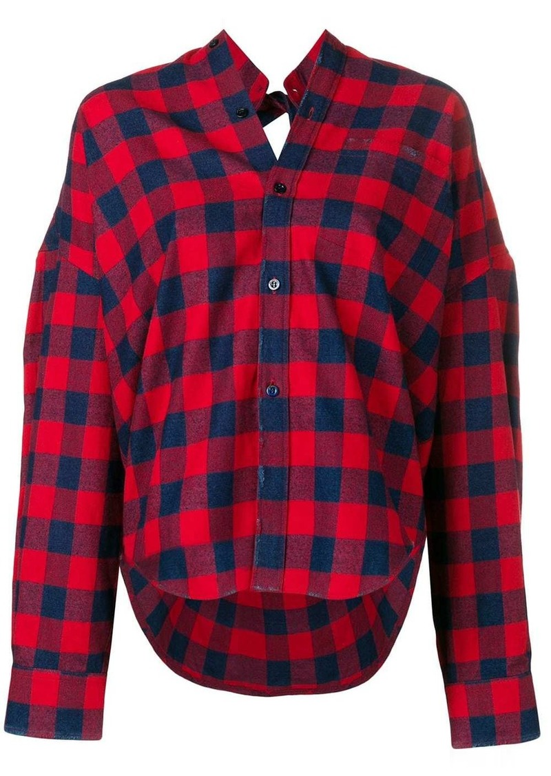 Balenciaga check swing shirt