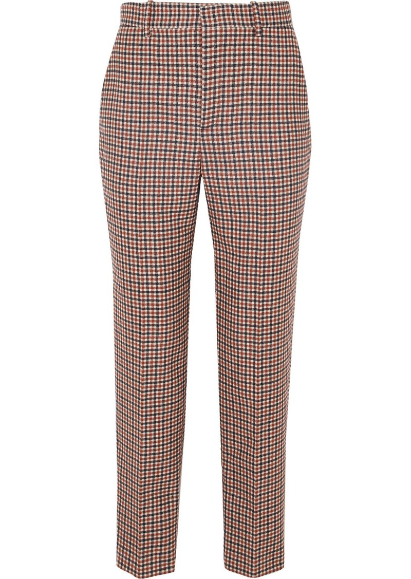 Balenciaga Checked Wool-blend Tweed Straight-leg Pants