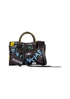 Balenciaga Classic City AJ Small Graffiti Satchel Bag