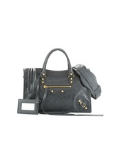 Balenciaga Classic City Golden Small Arena Satchel Bag  Gray (Gris Fossile)