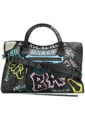 Balenciaga Classic City Graffiti Long Strap bag