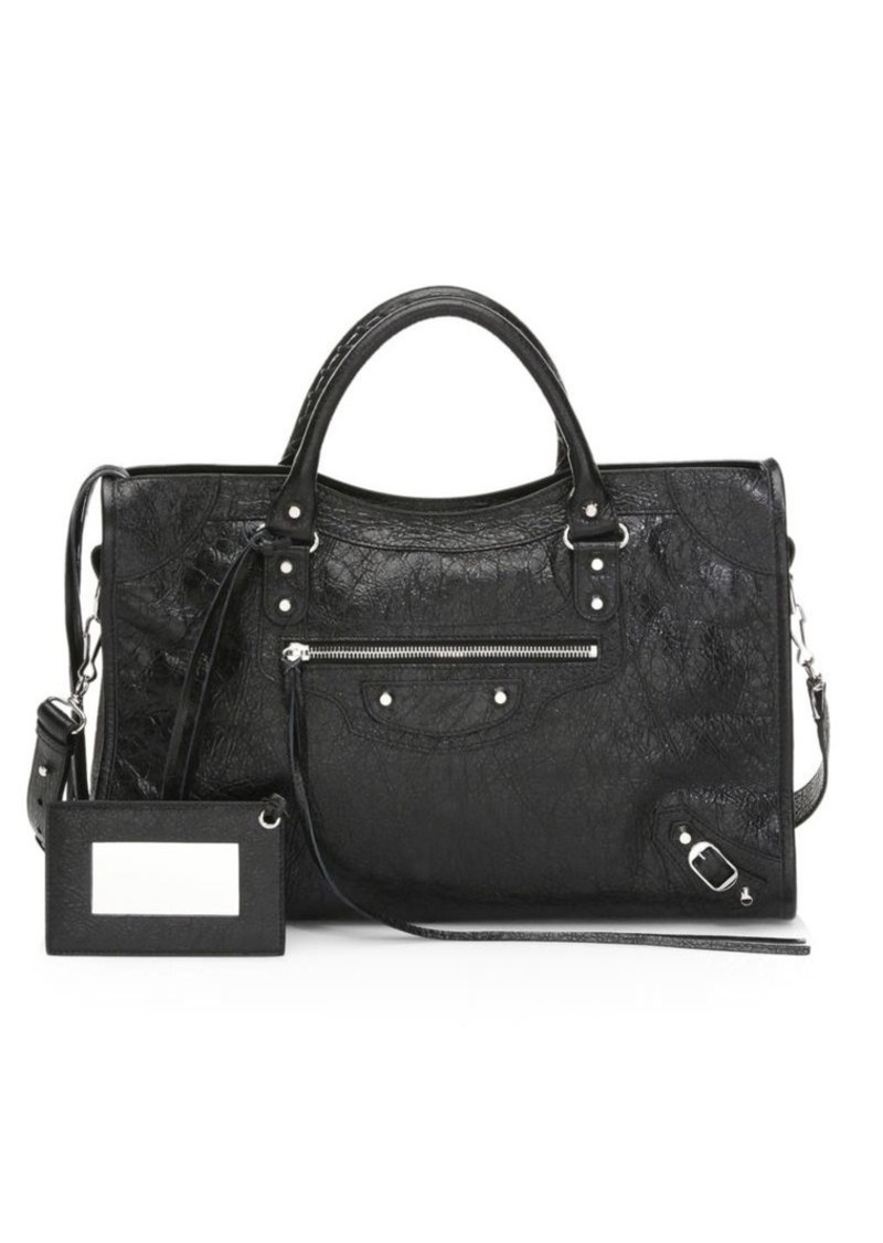 Balenciaga Medium City Leather Satchel