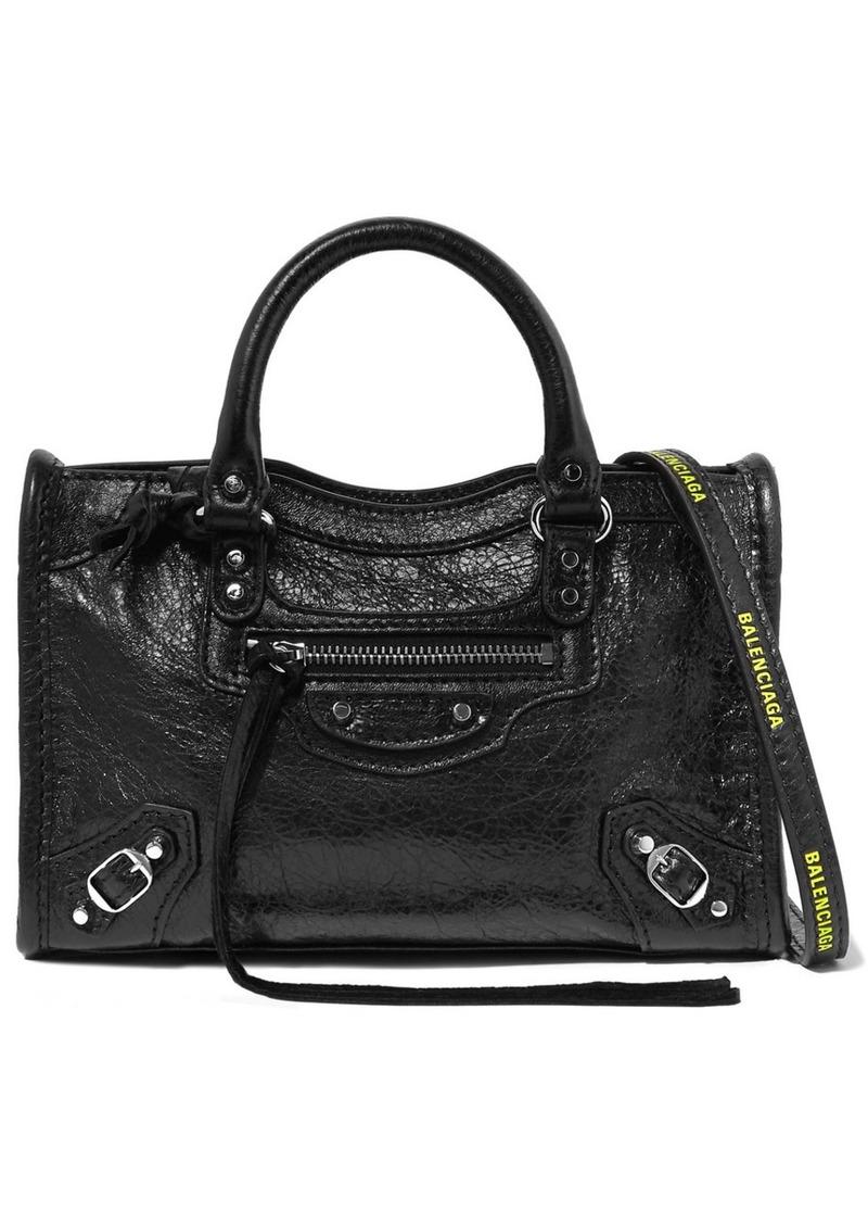 Balenciaga Classic City Nano Textured-leather Shoulder Bag