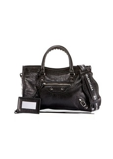 Balenciaga Classic City Small Leather Tote Bag with Logo Strap