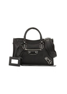 Balenciaga Classic City Small Metallic Edge Satchel Bag