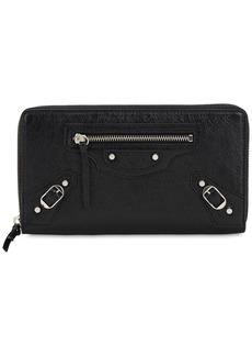 Balenciaga Classic Leather Zip Around Wallet