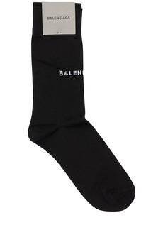 Balenciaga Classic Logo Cotton Blend Socks