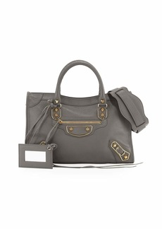 Balenciaga Classic Metallic Edge City Small Tote Bag  Neutral