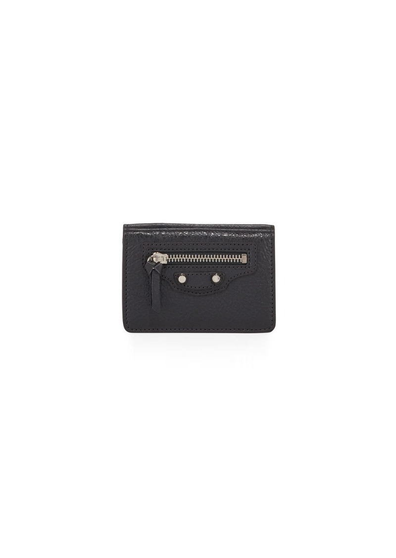 Balenciaga Classic Money Pebbled Leather Wallet