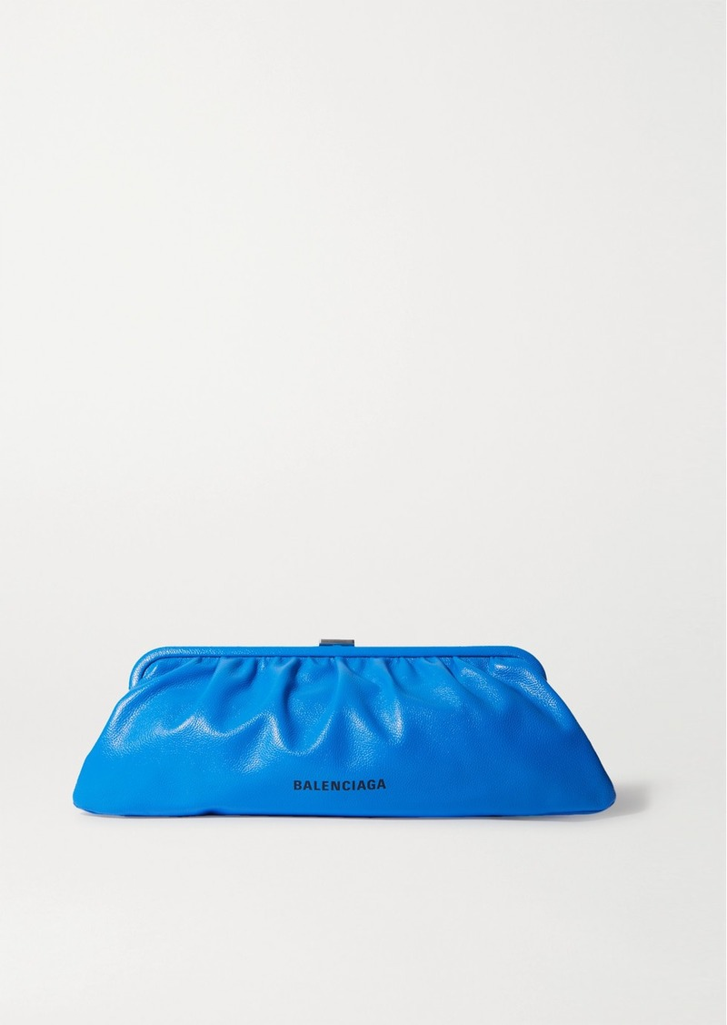 Balenciaga Cloud Large Printed Textured-leather Clutch