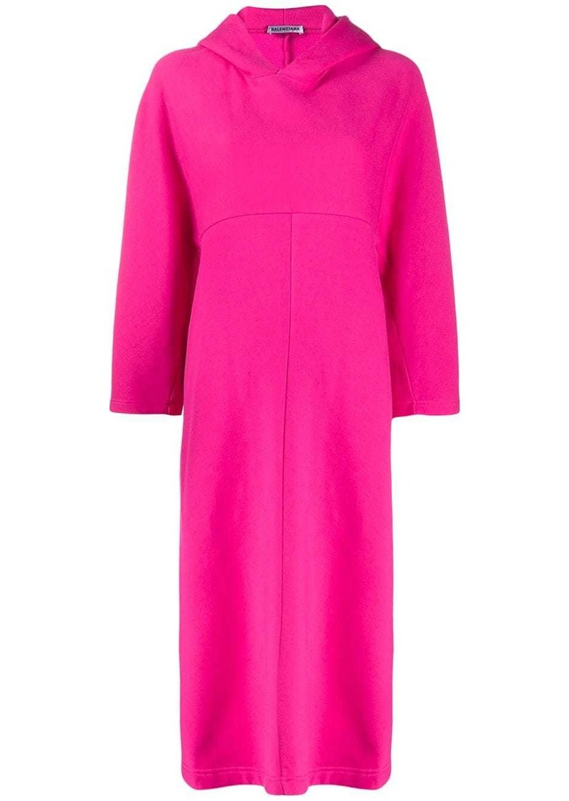 Balenciaga Cocoon hooded asymmetric dress
