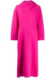 Balenciaga Cocoon hooded asymmetric dress