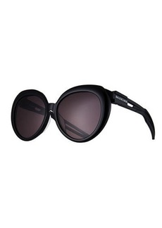 Balenciaga Contrast Round Gradient Sunglasses