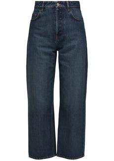 Balenciaga Cotton Denim Carrot Leg Crop Jeans