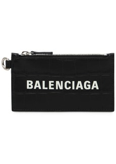 Balenciaga Croc Embos Leather Wallet
