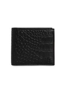 Balenciaga Croc Embossed Leather Billfold Wallet