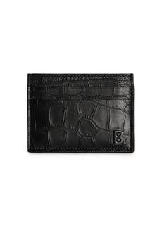 Balenciaga Croc Embossed Leather Credit Card Holder