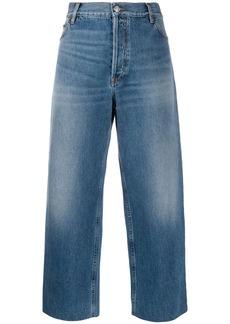Balenciaga cropped denim trousers