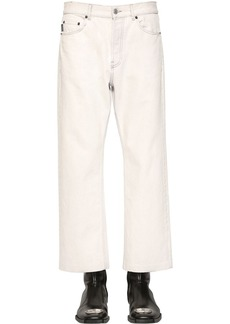 Balenciaga Cropped Japanese Cotton Denim Trousers