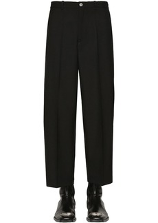 Balenciaga Cropped Wool Gabardine Trousers
