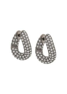 Balenciaga crystal embellished loop earrings