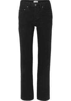 Balenciaga Distressed High-rise Straight-leg Jeans