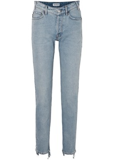 Balenciaga Distressed High-rise Straight-leg Jeans