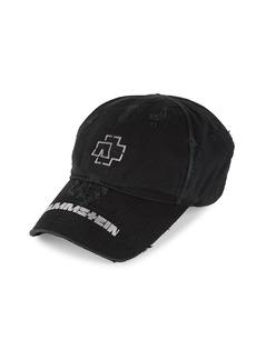 Balenciaga Distressed Rammstein Logo Cap