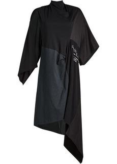 Balenciaga Draped Cotton Dress