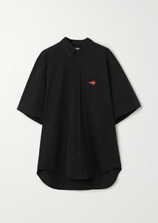 Balenciaga Embroidered Cotton Shirt