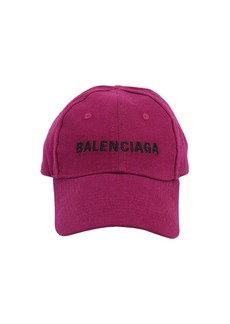 Balenciaga Embroidered Logo Cotton Baseball Hat