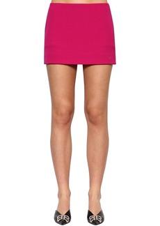 Balenciaga Embroidered Logo Gabardine Skirt