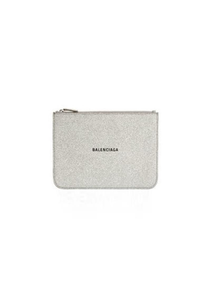 Balenciaga Everyday Glittered Calfskin Medium Pouch