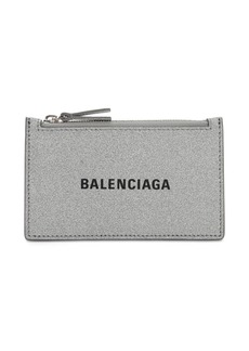 Balenciaga Everyday Glittered Leather Card Holder