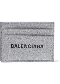 Balenciaga Everyday Glittered Leather Cardholder