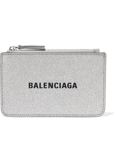 Balenciaga Everyday Glittered Leather Wallet