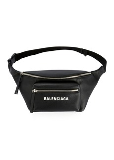 Balenciaga Everyday Large Leather Belt Bag with Logo/Fanny Pack