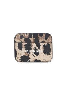 Balenciaga Everyday Leopard-Print Leather Card Case