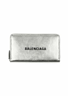 Balenciaga Everyday Metallic Leather Continental Wallet