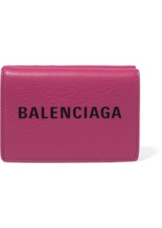 Balenciaga Everyday Mini Printed Textured-leather Wallet