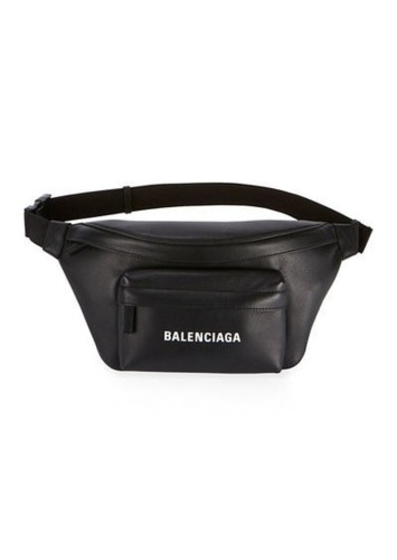 Balenciaga Everyday Pebbled Leather Belt Bag