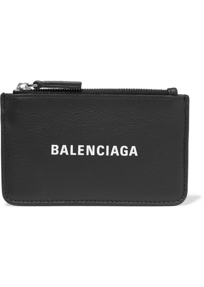Balenciaga Everyday Printed Textured-leather Wallet